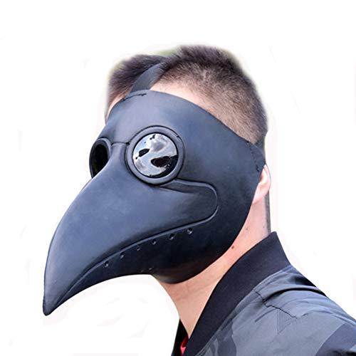 BIRDEU Plague Doctor Maske Steampunk Long Nose Schnabel Cosplay Kostüm Zubehör für Herren Kleidung Merchandise