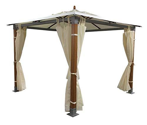 Salone Negozio Online Gazebo Top Alu Legno-Alluminio MT.3X3 Impermeabile