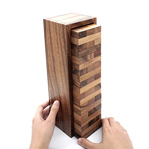 Board Games for Families and Kids with a Stacking Block Games of Tumbling Tower Game Classic Wood that Will Challenges Your Skills in Adult Kids and Family to Get Fun Day and Night