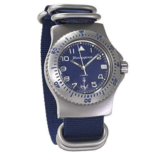 ¡Nuevo 2019! Vostok Komandirskie #280684 Reloj de Pulsera mecánico Militar para Hombre con Esfera Azul