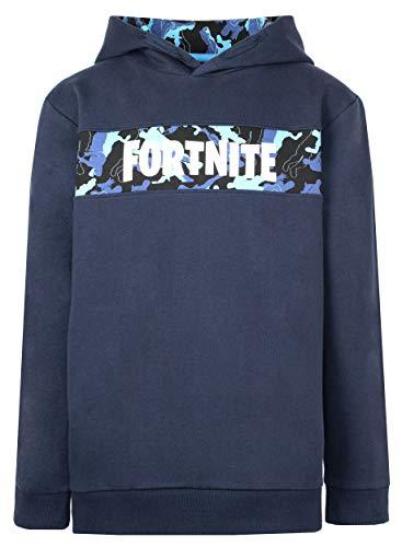 Fortnite - Boys' Hoodies - Fortnite Hoodie - 100% Cotton Navy Hoodie -...