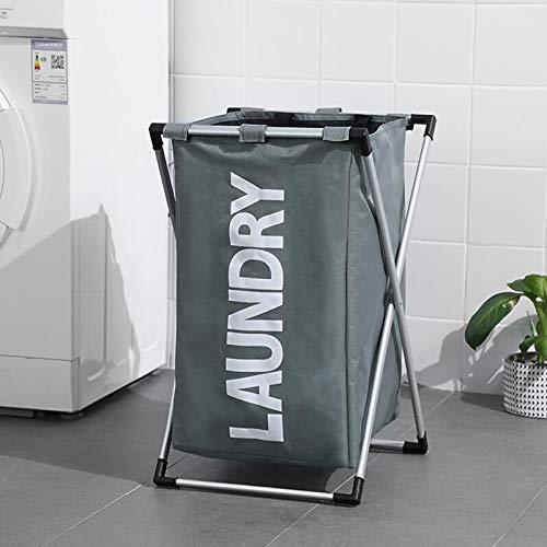 AMYHY X Rack - Caja de almacenamiento de ropa sucia, cesta de almacenamiento de ropa plegable, bolsa de almacenamiento portátil para uso diario, para viajes, dormitorio, lavandería