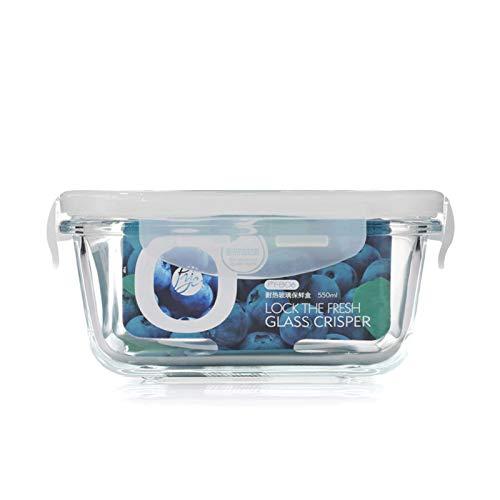 1 unids / 2 unids de Vidrio Almacenamiento de Vidrio Comida Preparación de preparación BPA Caja de Almuerzo Gratis Contenedores con Tapa de Bloqueo Smart Snap 100% Aprieso a Prueba de Fugas
