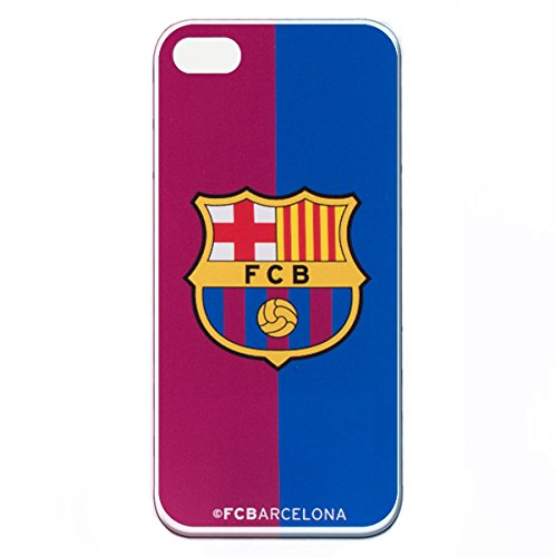 Funda para iPhone 5-5S - SE Oficial del FC Barcelona Bicolor Carcasa de Silicona para iPhone Resistente y Flexible con Licecia Oficial del FC Barcelona