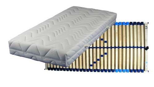 Set bestehend aus: Breckle Vital Spring 5-Zonen Taschenfederkernmatratze in 100x200 cm im Härtegrad 2 / H2 plus Lattenrost COMFORT-FLEX verstellbar in 100x200 cm – sofort lieferbar