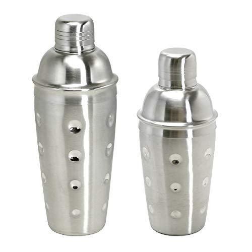 Cocktail Shaker 3tlg. - Edelstahl mit Sieb - 500 ml. - MATIERT.