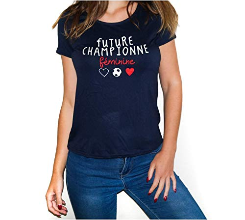 Frenchy - Camiseta de fútbol para mujer 2019 Future Champione, oficial, fabricada en Francia azul marino XL