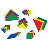 LEARNING ADVANTAGE Tangrams - Set of 28 - Puzzle Blocks for Geometry and Problem Solving - Math Manipulatives for Kids - Practice Early Geometry