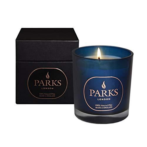 Parks London Moods Special Edition Kerze, 100% natürliches Wachs, Blau