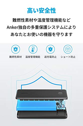 AnkerPowerCoreSlim10000PD20W(10000mAhPDモバイルバッテリー超大容量)【USBPowerDelivery対応/PowerIQ搭載/PSE技術基準適合】iPhone12iPadAir(第4世代)Androidその他各種機器対応