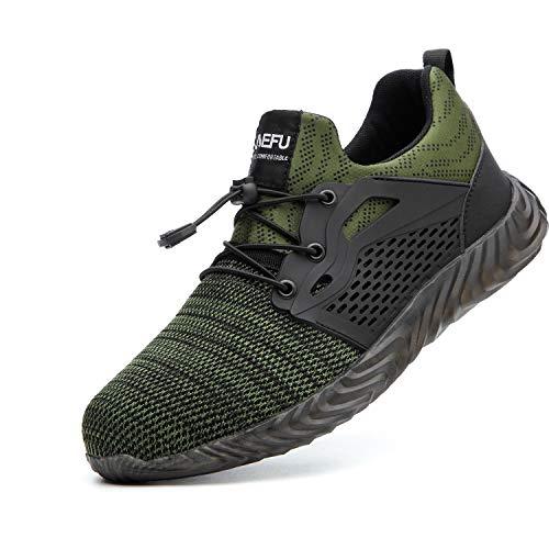 Zapatos de Seguridad para Hombre Transpirable Ligeras con