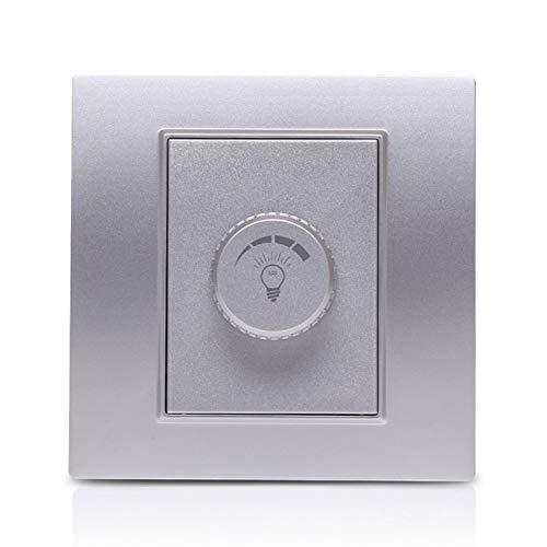 Foicags Lámpara de panel FIXTURA Electrodless Mate Silver Silver Interruptor de atenuación Interruptor de atenuación Consumidor y Interruptor de la perilla comercial MAX 500W Interruptor de Dimmer de