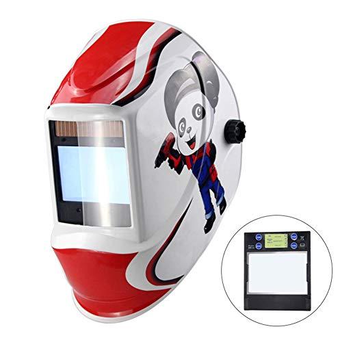 LAIABOR Automatik Schweißhelm für alle Gängigen Schweißtechniken Kompletter Kopfschutz Einstellknopf, Multidirektionale Regulierung,Rosa