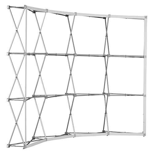 Gebogene Messewand Pop Up Klett Aluminium ✓ faltbare Messewand ✓ Faltdisplay mit Klettsystem ✓ für für Messen, Verkaufsaktionen & Präsentationen (4x3 Felder)