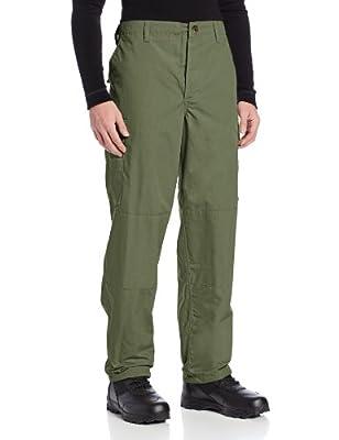 TRU-SPEC Men's Polyester Cotton Rip Stop BDU Pant, Olive Drab, Medium