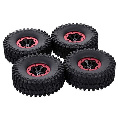 KangKangPL For RC Car 4pcs 1,9 Pulgadas Propósito General Pneumatic Tire Tread 120/4 Grava Escudo Modelo Accesorios para Coche de Juguete Modelo de camión (Color : Red)