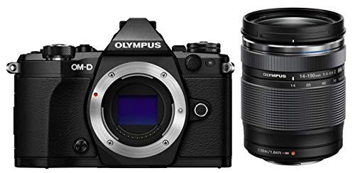 Olympus OM-D E-M5 Mark II Kit, Fotocamera di Sistema Micro Quattro Terzi (16,1 MP, Stabilizzatore d'Immagine a 5 Assi, Mirino Elettronico) e Obiettivo M.Zuiko Digital ED 14-150mm F4-5.6 Zoom, Nero