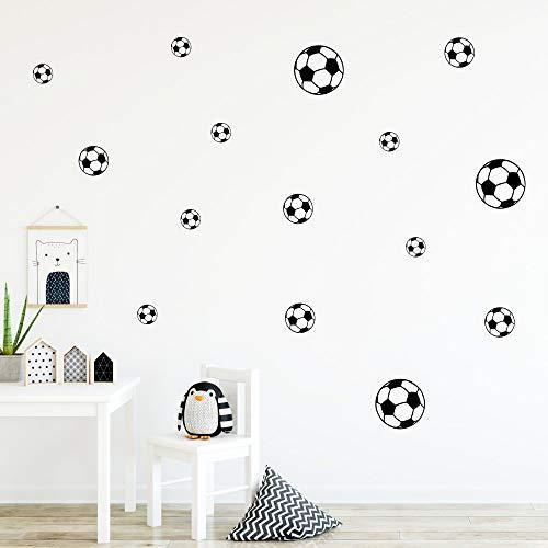 malango Wand-Sticker Fußball | Selbstklebende Fußbälle als Wand-Tattoo | Set Mit Verschiedenen Größen | 15 Stück