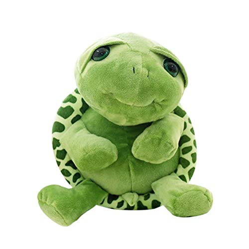 Toyvian Tortuga Verde Animal de Peluche de Juguete de Peluche Kawaii Ojos Grandes Panza Tortuga Muñeca Gran Regalo (17cm, Verde)