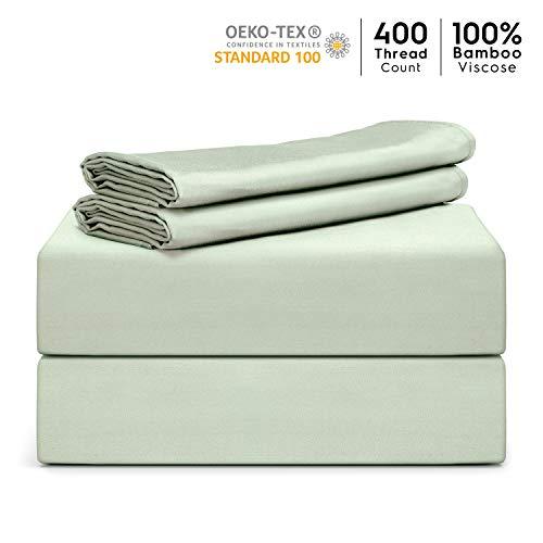 "Tafts Bamboo Sheets Queen Size - 100% Pure Organic Viscose Bamboo Sheet Set - 400TC Bamboo Bed Sheets - 4 Pieces - 17"" Deep Pocket - Silk Feel,..."