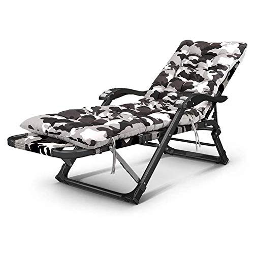 DYB Garden Chair Folding Sunlounger Folding recliner beach chair, reclining zero gravity sunbed with armrests for massage for garden beach camping garden fishing deckchair, 85x52x98cm Recliner