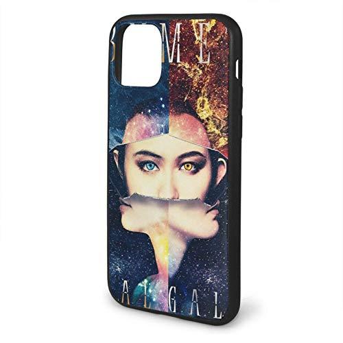 Babymetal Sun and Moon Funda de teléfono Negra Compatible con iPhone 12/12Pro MAX 11 11 Pro MAX XR XS SE 2020/7/8 6/6s Plus Samsung Huawei LG Caso