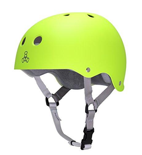 Triple Eight Sweatsaver Liner Skateboarding Helmet, Zest Rubber, Small