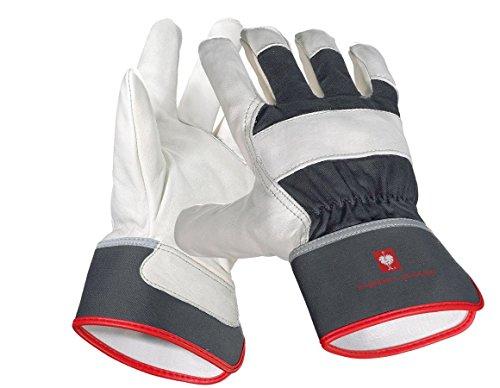 Engelbert Strauss Narbenleder-Handschuhe Platinum, Größe:10, Farbe:graphit
