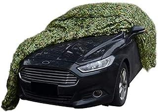 2x5m 3x4m Filet de camouflage vert Canopy Woodland net Carport Jardin Décoration Confidentialité couverture végétale Terrasse voiture solaire Ombrelle toile Camper Couverture 3x5m (Taille: 4 * 5 m (13