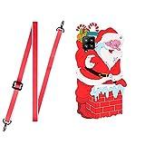 Shinyzone Weihnachten Design Kompatibel mit Huawei P40 Lite Hülle,Handykette Huawei P40 Lite Silikon Hülle Rot mit Band,Handyhülle Huawei P40 Lite 3D Cartoon mit Kordel zum Umhängen,Weihnachtsmann