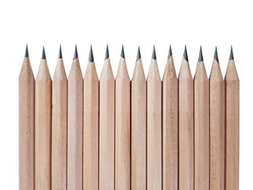 Pre-sharpened Raw Natural Wood Pencils 72 PCs in Box : TiT