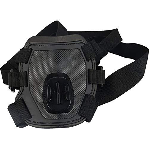 Accessori per fotocamera Supporto per imbracatura per cani Supporto per cinturino per torace Supporto per videocamera per eroi per cani Adatto per caccia-Nero