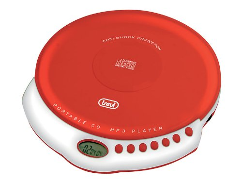 Trevi CMP 498 draagbare CD-speler met anti-shock, rood