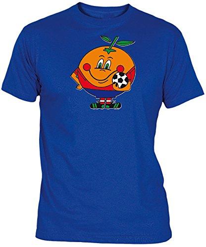 Desconocido Camiseta Naranjito Adulto/niño EGB ochenteras 80´s Retro (L, Azulón)