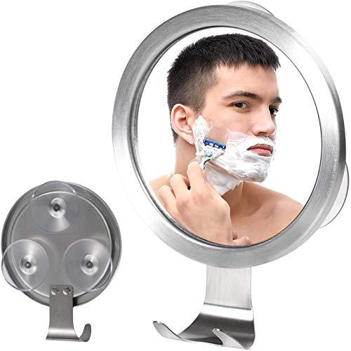 Miroir de Douche sans arcable, Brouillard Miroir de Rasage Libre avec 3 Ventouse Forte et Crochet de Rasoir, Anti-Brouillard briser Petit Miroir dans la Salle de Bain