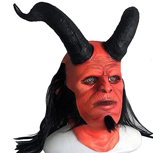 tggh Mscara de ltex para Halloween, mscara de reina de la sangre, cosplay de Hellboy Call of Darkness, mscara de ltex, guantes de horror para fiestas de Halloween (color A: A)