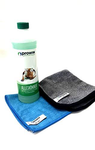 Prowin 1000ml 3er Set, Alleskönner + Simply Dry 40cm x 40cm + Bad Juwel 40cm x 40cm