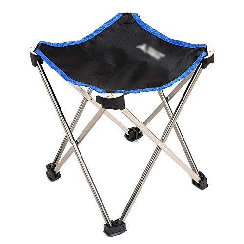Senderismo Mini taburete plegable portátil que acampa plegable al aire libre del taburete plegable Silla Slacker silla for barbacoa, camping, pesca, viajes, senderismo, Jardín, Playa Recreación al air