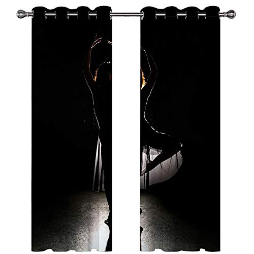 Michance Home Blackout Curtains 3D Digital Printing Curtain Suitable For Bedroom, Balcony, Shopping Mall Curtain Effectively Protect Personal Privacy