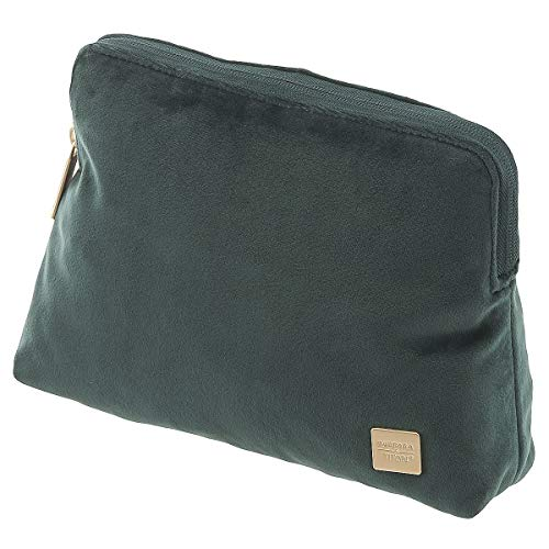 TITAN Barbara Velvet Cosmetic Bag Forest Green