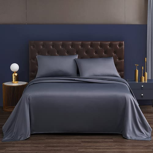Silk Sheets Queen Sheets Set Breathable & Cooling Wrinkle Free Extra Soft Hypoallergenic Queen Size Satin Sheet Set Deep Pockets Easy Fit Fade and...