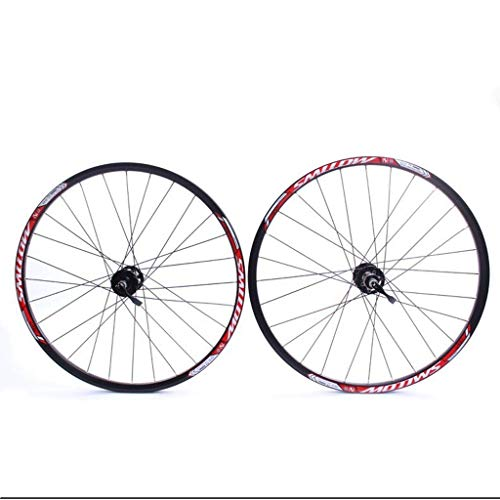WYJW Ruota da 26 Pollici per Mountain Bike Set di Ruote per Bicicletta MTB Cerchio a Doppia Parete Freno a Disco QR 8-10S Mozzo a Cassetta con Cuscinetto sigillato 32H