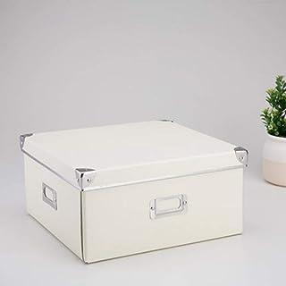 AQGELSNX Boîte de Rangement de Maison de Style européen, boîte de Rangement de Finition Pliable Disponible en décoration @...