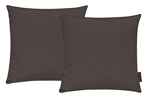 Fino Kissenhülle ca. 40 x 40 cm hochwertig & knitterarm Farbe 70 Braun (2er Set)