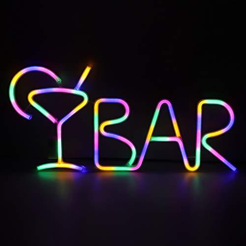 Petyoung Bar Led Néon avec Télécommande Allumer Les Lumières de Décoration Murale de Signe de Lettre de Barre pour Bars Hôtels Clubs Pub Fête à La Maison