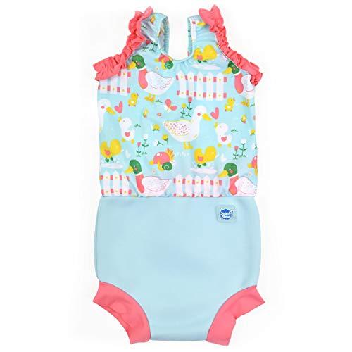 Splash About Happy Nappy - Disfraz para niña, Unisex bebé, CHNLDL, Little Ducks, 6-14 Meses