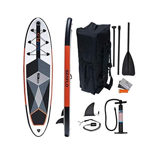 SUP Stand Up Paddle Board Gonfiabile 305x 75x15 con pagaia Regolabile capacitâ di carico 200 kg tavola da SUP Mare Lago Sport Fiume