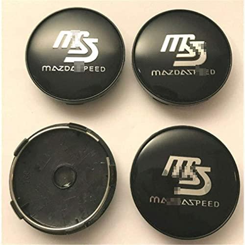 CSXN 4 Uds 60mm Tapas centrales de Rueda de Coche Tapa Central de Rueda Emblema Insignia Cubierta a Prueba de Polvo, para Mazda Speed