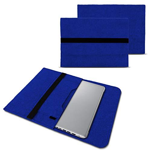 NAUC Notebook Tasche kompatibel für Lenovo Yoga 520 14 Zoll Hülle Filz Sleeve Hülle Schutzhülle Cover, Farben:Blau