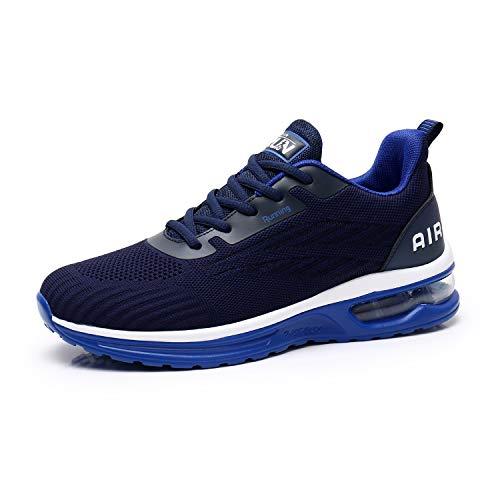Axcone Laufschuhe Herren Damen Sportschuhe Straßenlaufschuhe Sneaker Joggingschuhe Turnschuhe Walkingschuhe Traillauf Fitness Schuhe-9001BU41